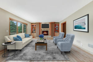Family room, staged